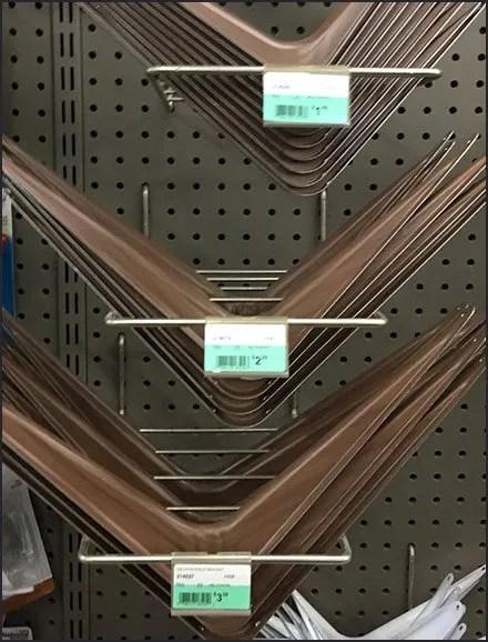 Shelf Bracket Segmented Loop Hook Display