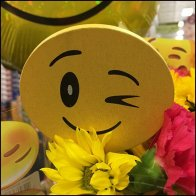Smiley Face Balloon Floral Merchandising