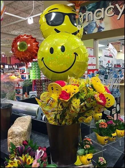 Smiley Face Balloon Floral Merchandising