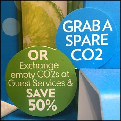 SodaStream Recycle CO2 at 50% Off Feature