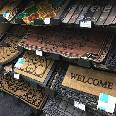 Wall of Welcome Mats Declined Display Feature