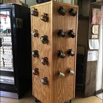 Wood Peg Mug Tower Goes Mobile