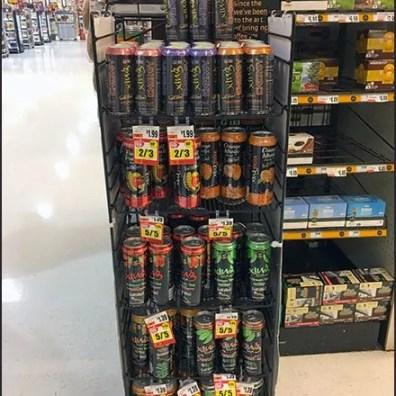 Non-GMO Glutten-Free Beverage Merchandising