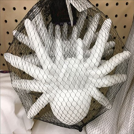 Albino Spider Mesh Bag Merchandising Feature