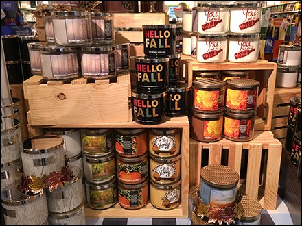 Fall Collection Display at Bath & Body Works