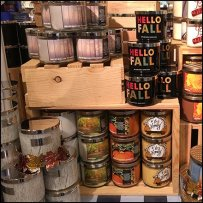 Fall Wood Crate Display at Bath & Body Works
