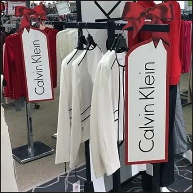Calvin Klein Christmas Door Hanger Branding
