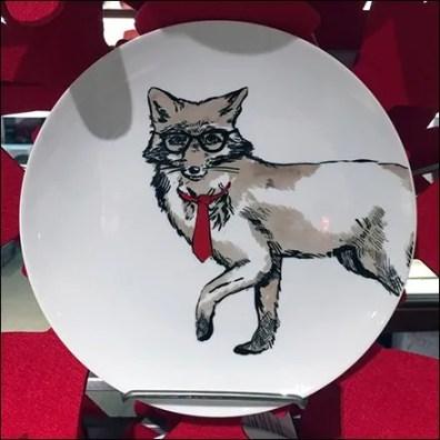 Christmas Tableware On Vertical Display