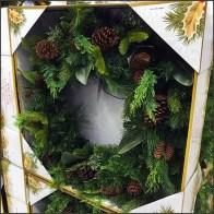 Christmas Wreath Pallet Merchandising