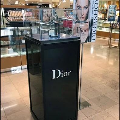 Dior Cosmetics Museum Case Pedestal
