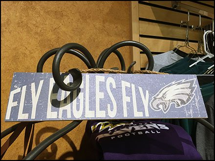 Ornate Wrought Iron Rack for Eagles Football