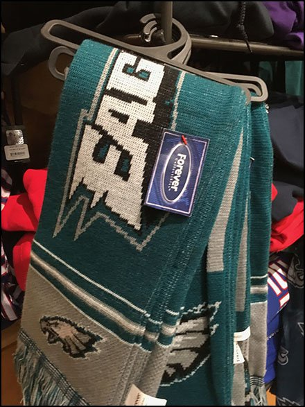 Scarf Clothes Hanger For Eagles Football