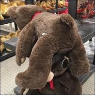 FAO Schwarz Kiss Ass Teddy Bear Display