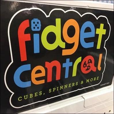 Fidget Central Freestanding Island Display Feature
