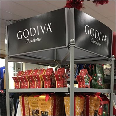 Godiva Chocolate Power Aisle Merchandising