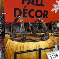 Gridwall Wire Shelf for Fall Decor Display