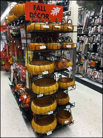 Gridwall Wire Shelf Fall Decor Basket Display 3