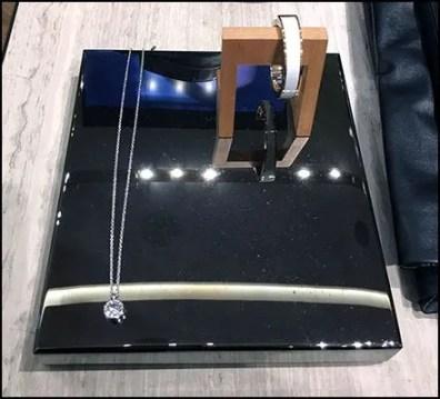 Jewelry Black Chrome Plinth At Karen Miller