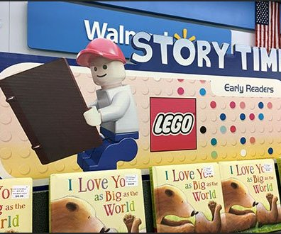 Lego Early Readers Book Rack Branding