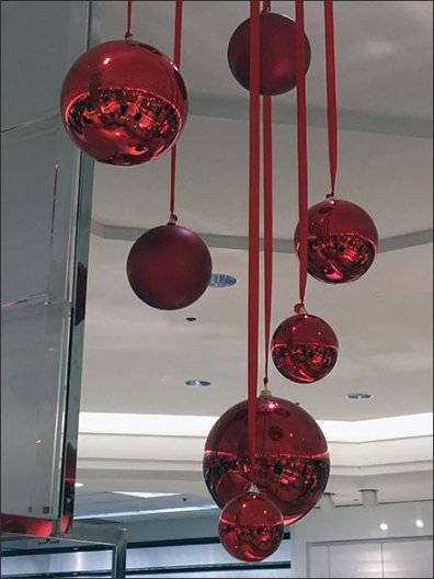 Macys Christmas Ball Ornaments Grouping Detail