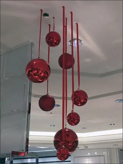 Macys Christmas Ball Ornaments Grouping Detail