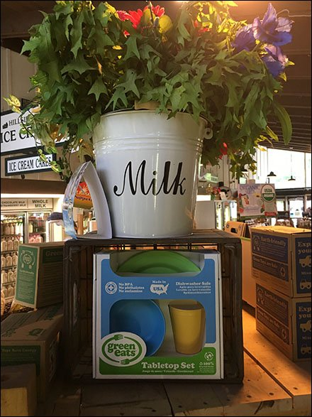 Farm Store Milk Pail And Vintage Crate Props