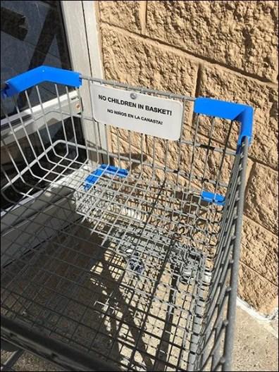 Bilingual No Children in The Shopping Cart