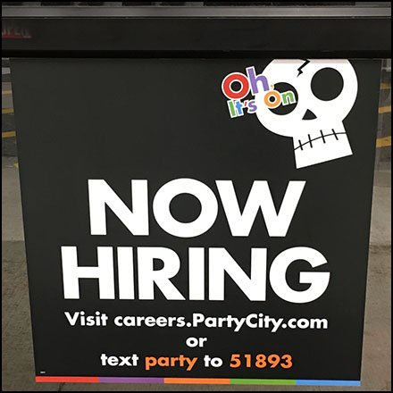 Oh It's On Halloween Hiring At Party City