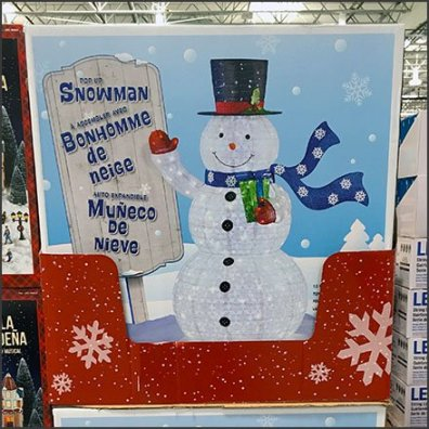 PreSeason Snowman Sale At Costco Aux