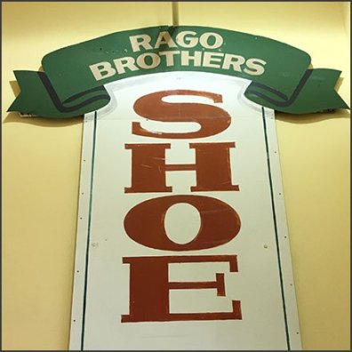 Rago Brothers Vintage Shoe Repair Sign