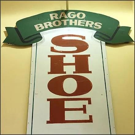 Rago Brothers Vintage Shoe Repair Sign