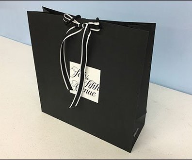 Saks Fifth Avenue Ribbon Tie Branded Shopping Bag 3