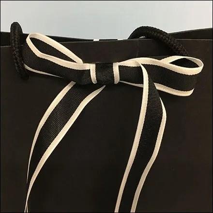 Saks Be-Ribboned and Branded Shopping Bag