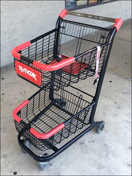 Shopping Cart Outfitting - I Brake For Fashion Shopping Cart at T.J.Maxx