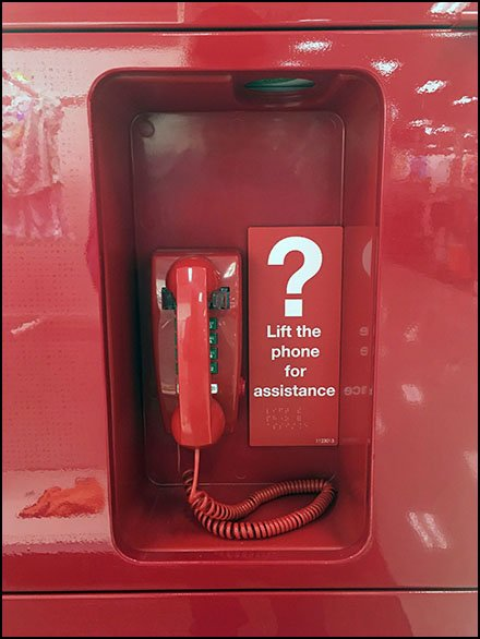 Freestanding Red Call Box Monolith at Target