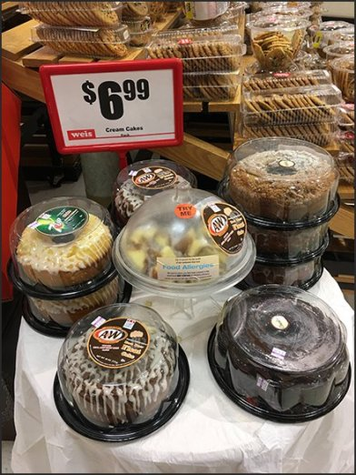 Cream Cake Sample Try-Me at Weis