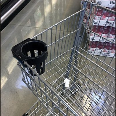 Whole Foods Shopping Cart Cup Holder 2