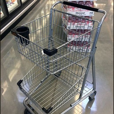 Whole Foods Shopping Cart Cup Holder 3