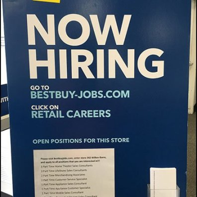 Best Buy Hiring Positions Via Entry Easel