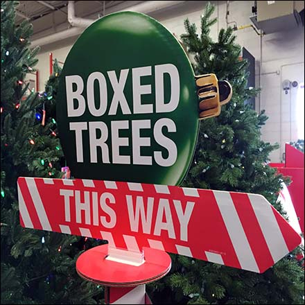 Boxed Christmas Trees Directional Sign