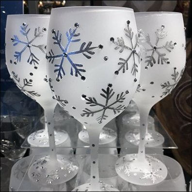 Christmas Glassware Acrylic Support
