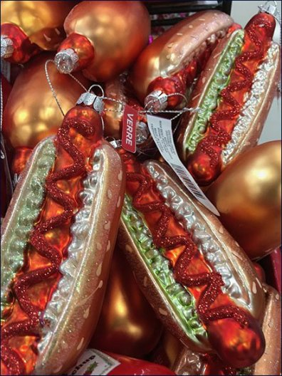 Christmas Hot Dogs, Hamburgers and Fries