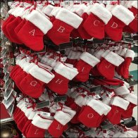 Christmas Stocking Alphabetized by Faceout Feature