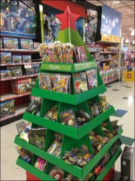 Christmas Tree Shaped Corrugated Display