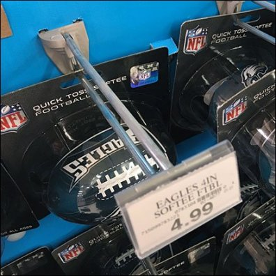 Eagles Football Straight-Entry Hook Sales Aux