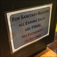 All Earring Sales Final, No Exchanges, No Returns