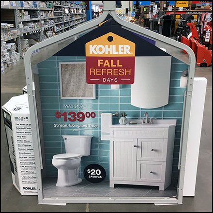 Fall Toilet Refresh Display by Kohler