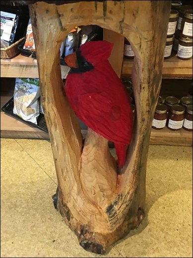 Wood Carving Raffle Boosts Farm Store Sales