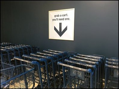 Grab A Shopping Cart Directional
