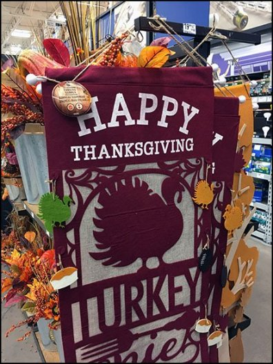 Happy Thanksgiving Banner T-Stand Display